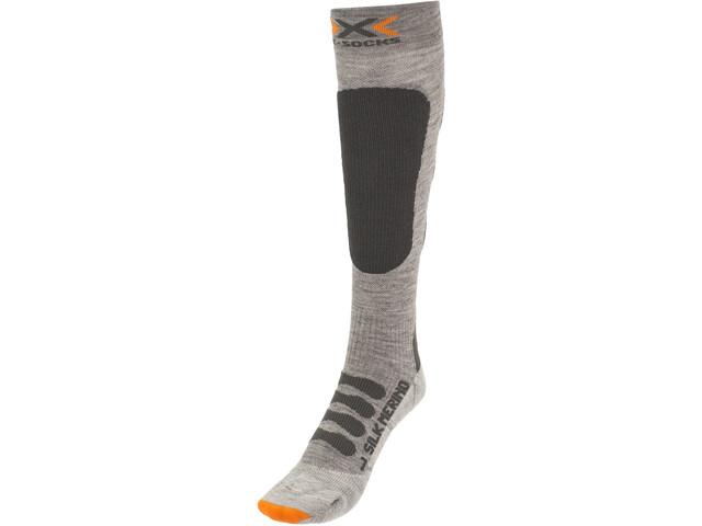 X-Socks Ski Silk Merino Calcetines Hombre, grey/anthracite